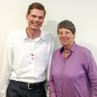 Sven John mit Bundesministerin Dr. Barbara Hendricks